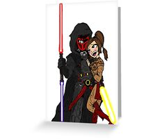 Star Wars: Revan and Bastila Greeting Card