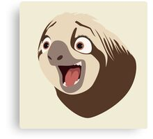 Sloth flash Canvas Print