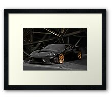 F430 Ferrari 'Basic Black' Coupe Framed Print