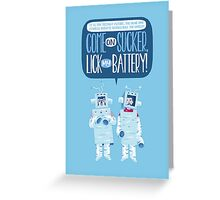 Flight of the Robots Greeting Card