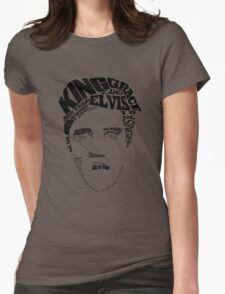 Elvis - the king portrait Womens Fitted T-Shirt