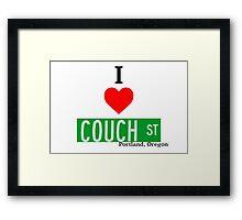 I Love Couch Street, Portland Oregon Framed Print