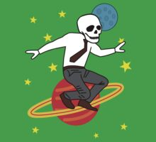 Space Office Skeleton One Piece - Short Sleeve