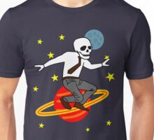 Space Office Skeleton Unisex T-Shirt