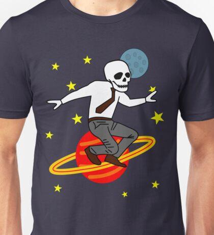 Space Office Skeleton Unisex T-Shirt