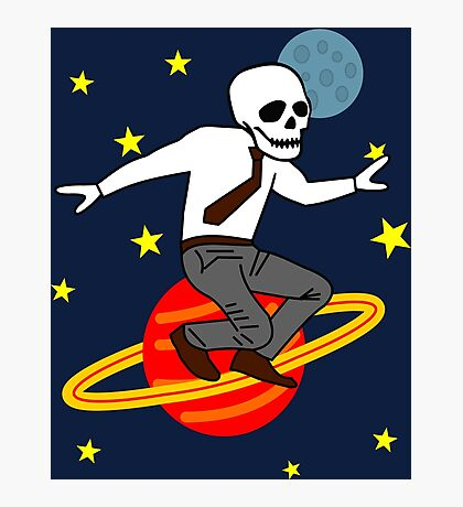 Space Office Skeleton Photographic Print