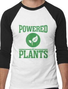 Powered by plants Men's Baseball ¾ T-Shirt