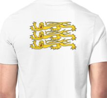 Royal Banner of England, Heraldry, Team, Sport, Three Lions, 3 Lions, History, Blighty, English, British, UK Unisex T-Shirt