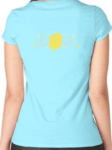 Lemon Swirl Graphic Women's Fitted Scoop T-Shirt