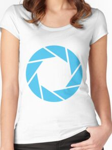 Aperture Science (Blue) Women's Fitted Scoop T-Shirt