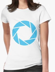 Aperture Science (Blue) Womens Fitted T-Shirt