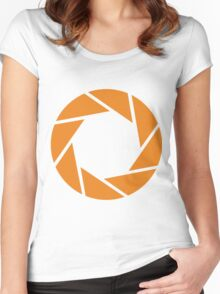 Aperture Science (Orange) Women's Fitted Scoop T-Shirt