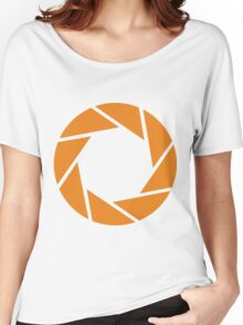 Aperture Science (Orange) Women's Relaxed Fit T-Shirt