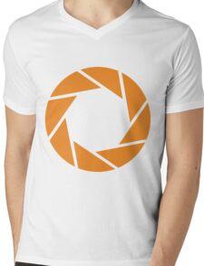 Aperture Science (Orange) Mens V-Neck T-Shirt