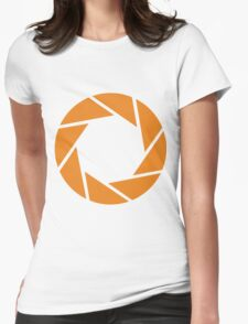 Aperture Science (Orange) Womens Fitted T-Shirt