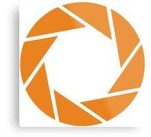 Aperture Science (Orange) Metal Print
