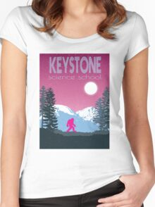 Keystone Science School Travel Poster Women's Fitted Scoop T-Shirt