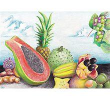 Island Fruit Splash Photographic Print