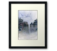 gray moon Framed Print