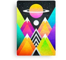 Saturn Peaks Canvas Print