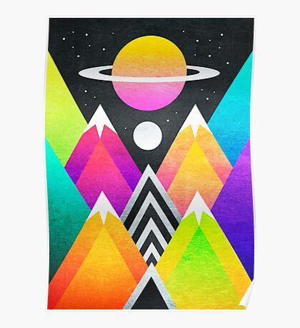 Saturn Peaks Poster