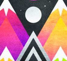 Saturn Peaks Sticker