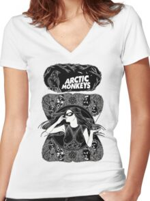 Arctic Monkeys by remi42 Women's Fitted V-Neck T-Shirt