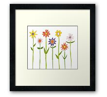 tall flowers Framed Print