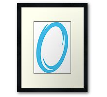 Blue Portal Framed Print