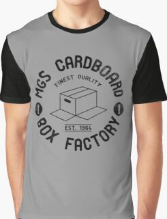 MGS Cardboard Box Factory Graphic T-Shirt