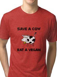 Save Cow Vegan Tri-blend T-Shirt