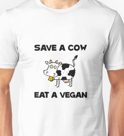 Save Cow Vegan Unisex T-Shirt