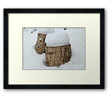 stumps under the snow Framed Print