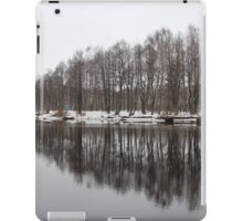 Trees reflected in water iPad Case/Skin
