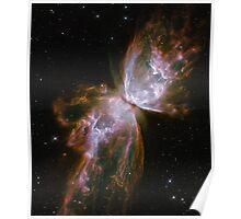 Butterfly, Nebula, HUBBLE, NASA, Telescope, Astronomy, Star cluster, Poster