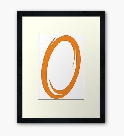 Orange Portal Framed Print