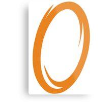 Orange Portal Metal Print