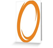 Orange Portal Greeting Card