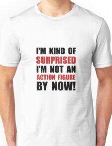 Surprised Action Figure Unisex T-Shirt