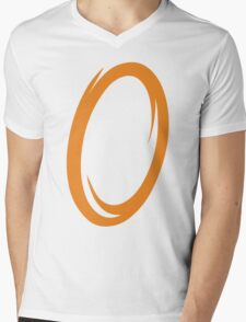 Orange Portal Mens V-Neck T-Shirt