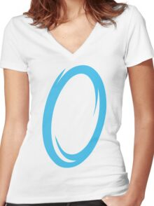 Blue Portal Women's Fitted V-Neck T-Shirt