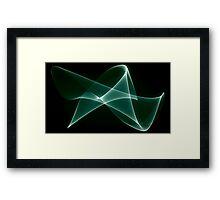 dimension graph Framed Print