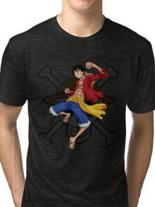 Luffy the Pirates 028 - Onepiece Tri-blend T-Shirt
