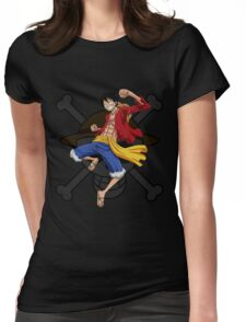 Luffy the Pirates 028 - Onepiece Womens Fitted T-Shirt