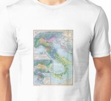 Vintage Italy Map Unisex T-Shirt