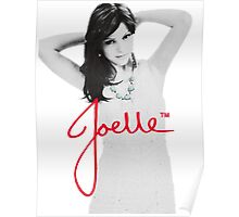 Joelle Black & White Blue Necklace Signature Poster
