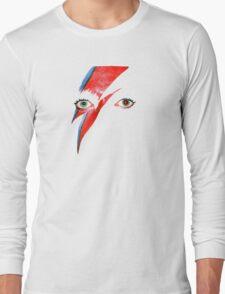 David Bowie Aladdin Sane Lightning Bolt Long Sleeve T-Shirt