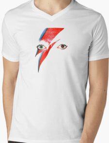 David Bowie Aladdin Sane Lightning Bolt Mens V-Neck T-Shirt