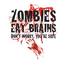Zombies - Safe Photographic Print