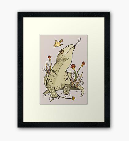 King Komodo Framed Print